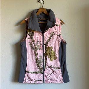 Real tree pink camo vest